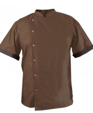Summer Chef Jacket Summer Linen Chef Jacket Brown